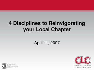 4 Disciplines to Reinvigorating your Local Chapter