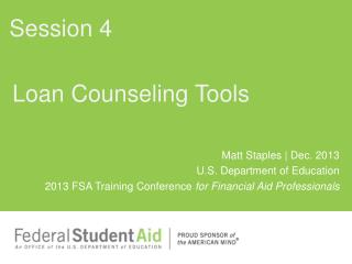 Loan Counseling Tools