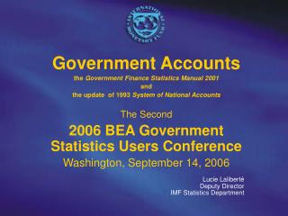 Government Accounts   the  Government Finance Statistics Manual 2001 and
