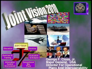 Inspiration/Promote 'Out of the Box Thinking'  Explain JV2010   DOD Transformation
