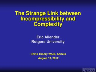 The Strange Link between Incompressibility and Complexity
