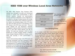 IEEE 1588 over Wireless Local Area Networks