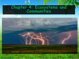 Chapter 4 4.2 Niches and Community Interactions