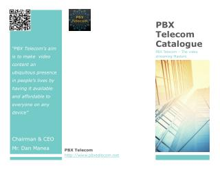 PBX Telecom Catalogue
