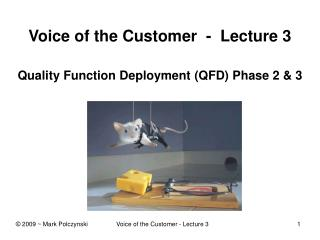 Voice of the Customer  -  Lecture 3 Quality Function Deployment (QFD) Phase 2 & 3