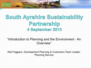 Sustainable Development  Planning Controls
