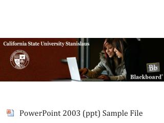 PowerPoint 2003 (ppt) Sample File