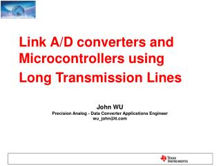 Link A/D converters and  Microcontrollers using  Long Transmission Lines