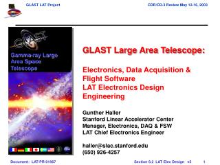 GLAST Large Area Telescope: Electronics, Data Acquisition & Flight Software