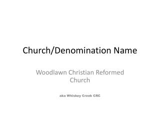 Church/Denomination Name