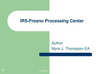 IRS-Fresno Processing Center