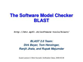 The Software Model Checker BLAST