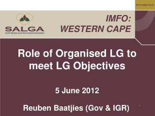 Role of Organised LG to meet LG Objectives