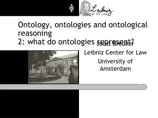 Ontology, ontologies and ontological reasoning 2: what do ontologies represent