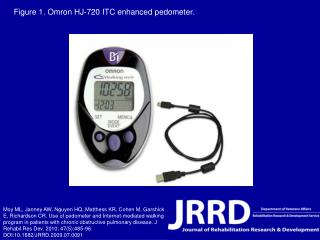 Figure 1. Omron HJ-720 ITC enhanced pedometer.