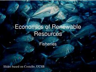 Economics of Renewable Resources