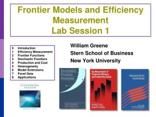 Frontier Models and Efficiency Measurement Lab Session 1