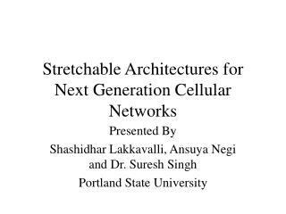 Stretchable Architectures for Next Generation Cellular Networks