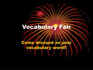 Vocabulary Fair