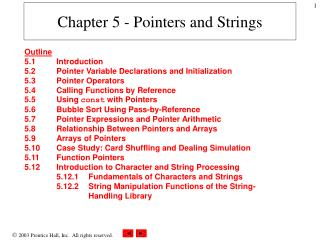 Chapter 5 - Pointers and Strings