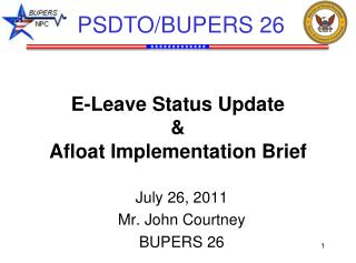 E-Leave Status Update & Afloat Implementation Brief