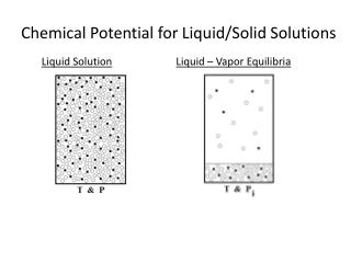 Chemical Potential for Liquid/Solid Solutions