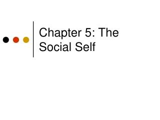 Chapter 5: The Social Self