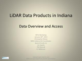 LiDAR Data Products in Indiana