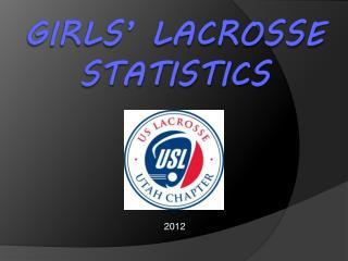 Girls' Lacrosse Statistics