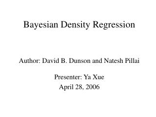 Bayesian Density Regression