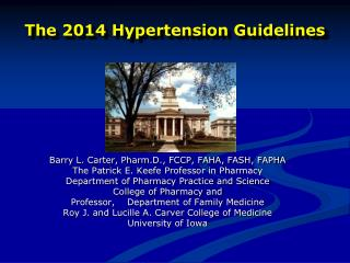 The 2014 Hypertension Guidelines