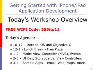 Getting Started with iPhone/iPad Application Development