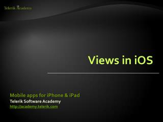 Views in iOS