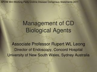 Management of CD Biological Agents