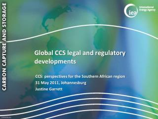 Global CCS legal and regulatory developments