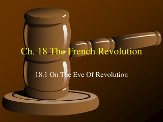 Ch 18: The French Revolution