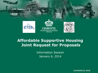 Affordable Supportive Housing  Joint Request for Proposals