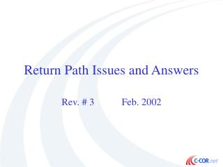 Return Path Issues and Answers