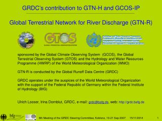 Global Terrestrial Network for River Discharge (GTN-R)