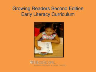 Growing Readers Second Edition  Early Literacy Curriculum