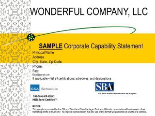 WONDERFUL COMPANY, LLC