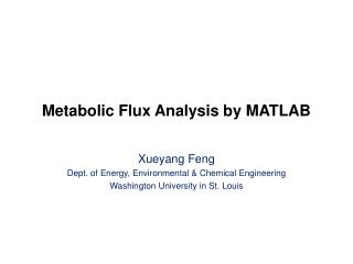 Metabolic Flux Analysis by MATLAB