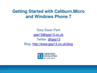 Getting Started with Caliburn.Micro and Windows Phone 7