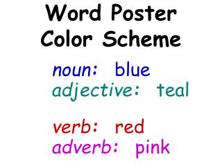Word Poster Color Scheme
