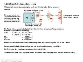 1.5.2 Ultraschall- Abstandsmessung