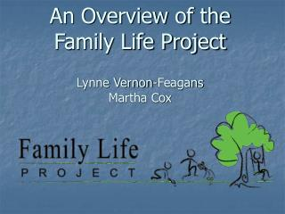 An Overview of the  Family Life Project Lynne Vernon-Feagans Martha Cox