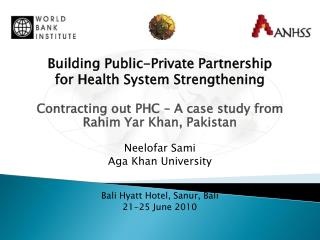 Building Public-Private Partnership  for Health System Strengthening