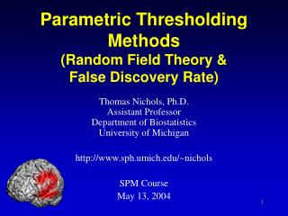 Parametric Thresholding Methods (Random Field Theory & False Discovery Rate)