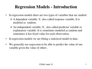 Regression Models - Introduction