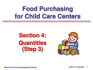 Section 4:   Quantities  (Step 3)